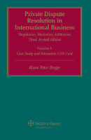 Private Dispute Resolution in International Business